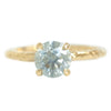 1.25ct Round Grey Diamond Evergreen Solitaire Ring in 14k Yellow