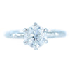 1.51ct Round Diamond Six Prong Evergreen Solitaire In Recycled Platinum