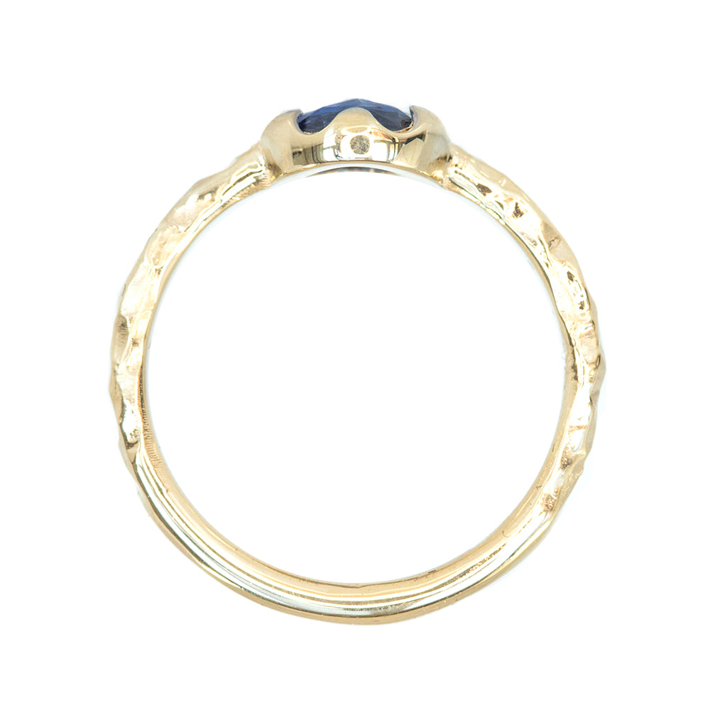 0.97ct Rosecut Sapphire Low Profile Six Prong Evergeen Solitare in Polished Yellow Gold