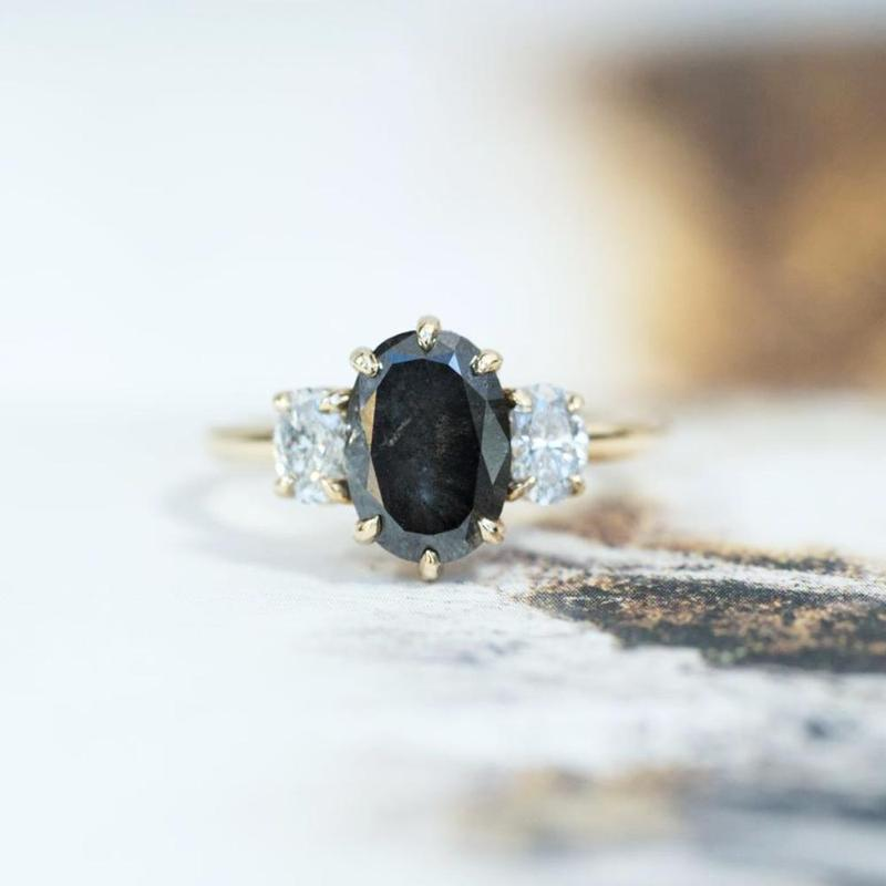 Antique Inspired Three Stone Band - Setting