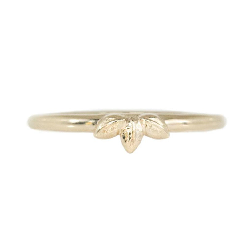 Three Leaves Wedding Band
