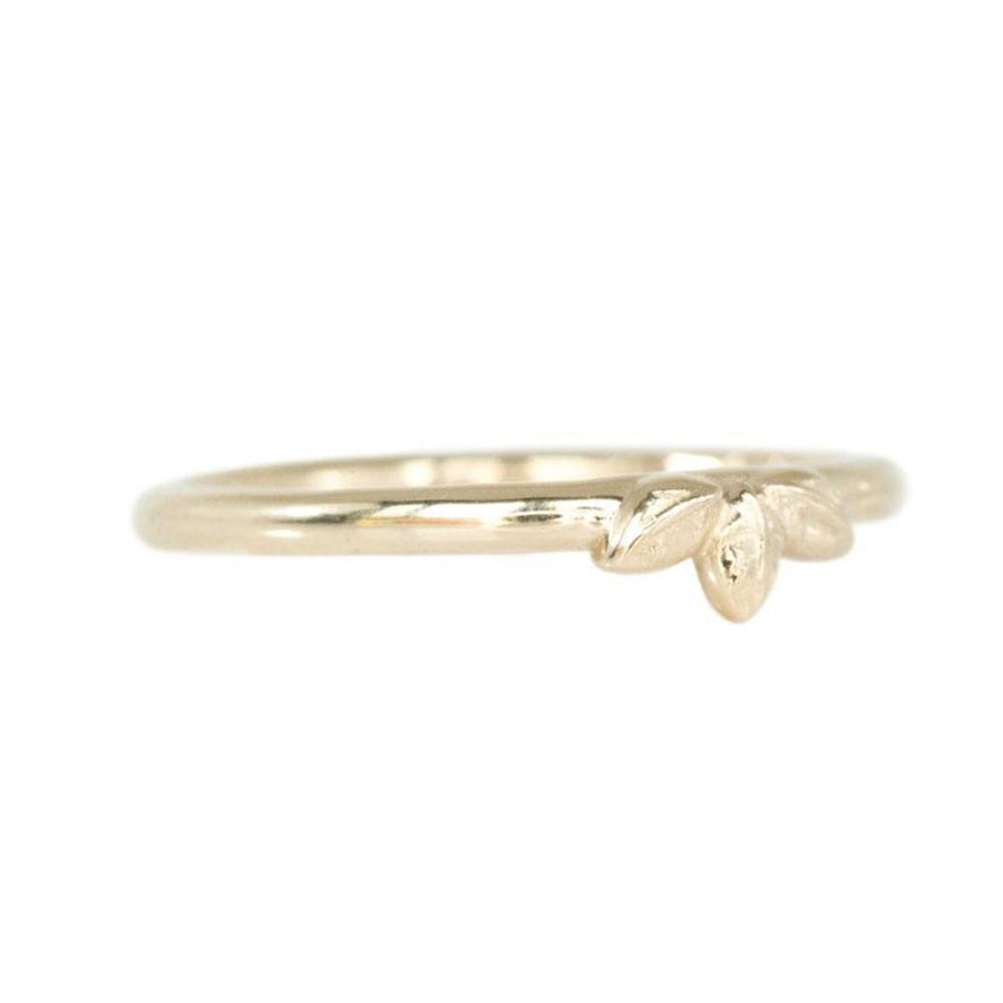 Three Leaves Wedding Band - Women's Wedding Band