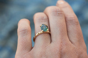 Oval Montana Sapphire Engagement Ring- CUSTOM RING EXAMPLE