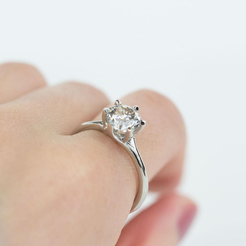 Split Shank Six Prong Solitaire