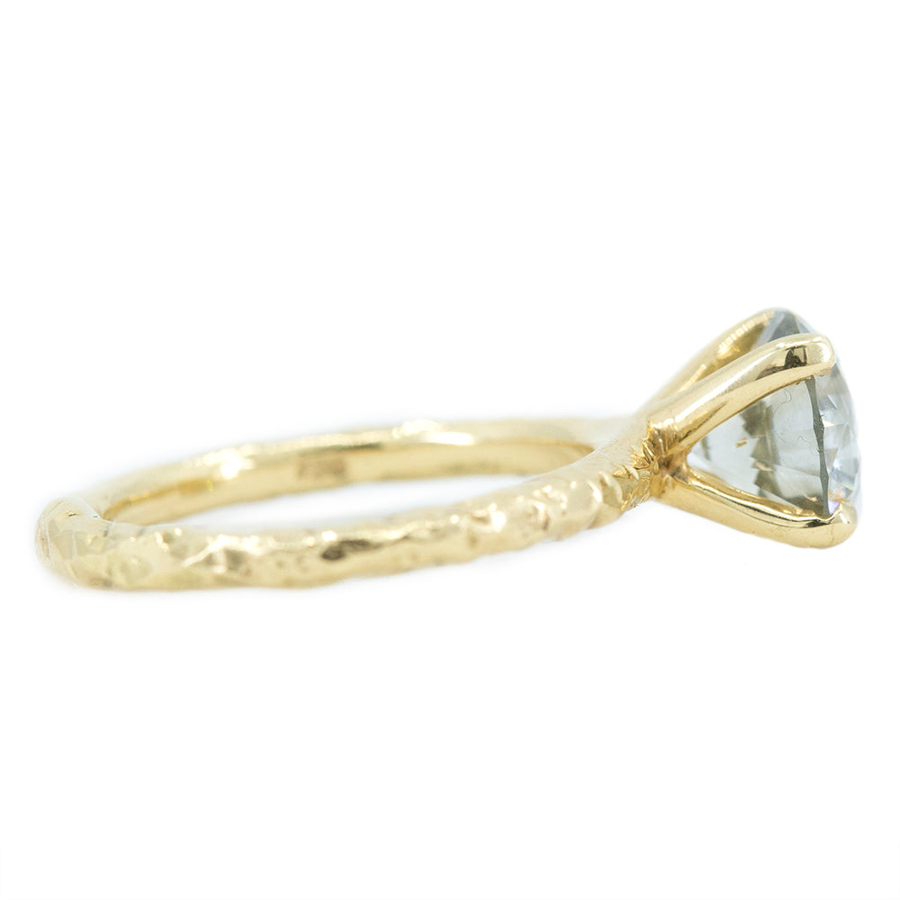 1.59ct Round Grey Diamond Evergreen Solitaire in 18k Yellow Gold