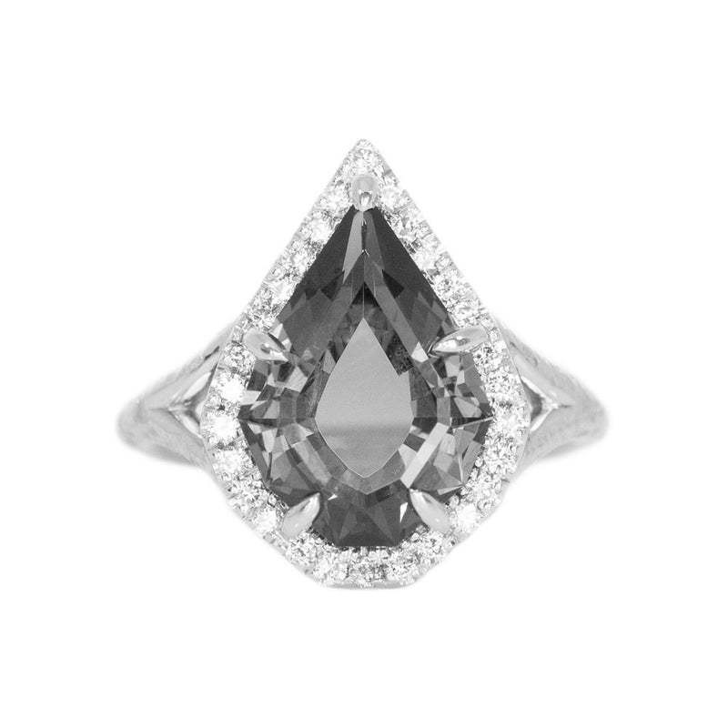 Split Shank Low Profile Halo with French Set Diamonds - Setting