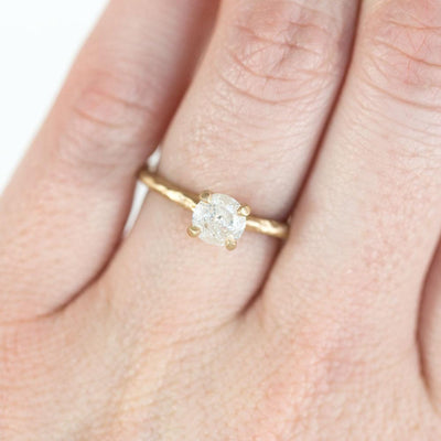 0.71ct Canadian Diamond Evergreen Solitaire in 14k Recycled Yellow Gold