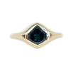 1.55ct Shield Sapphire Signet Ring In 18k Yellow Gold