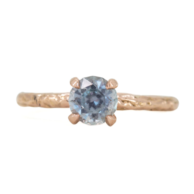 1.14ct Purple Grey Montana Sapphire Evergreen Solitaire Ring in 14k Rose Gold by Anueva Jewelry