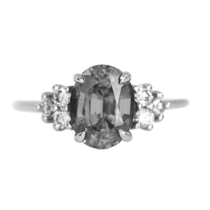 Diamond Cluster Side Stone - Setting