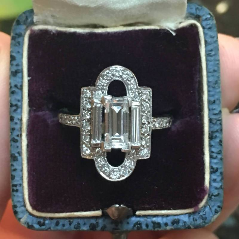 Custom Order- 1.22ctw three piece diamond suite for custom ring
