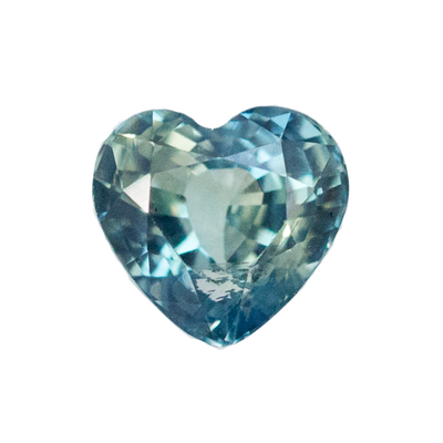 1.66ct Teal Heart Sapphire in Rose Gold Low Profile Diamond Halo by Anueva Jewelry