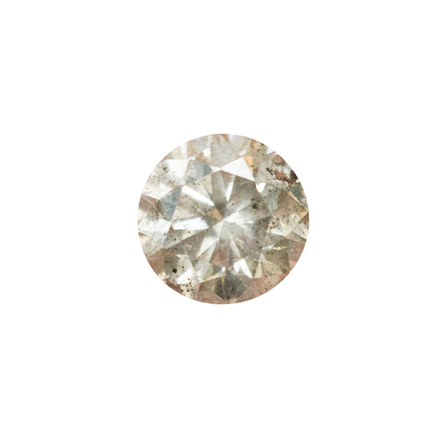 0.71CT ROUND LIGHT GREY DIAMOND, VISIBLE INCLUSIONS, 5.6X3.57MM