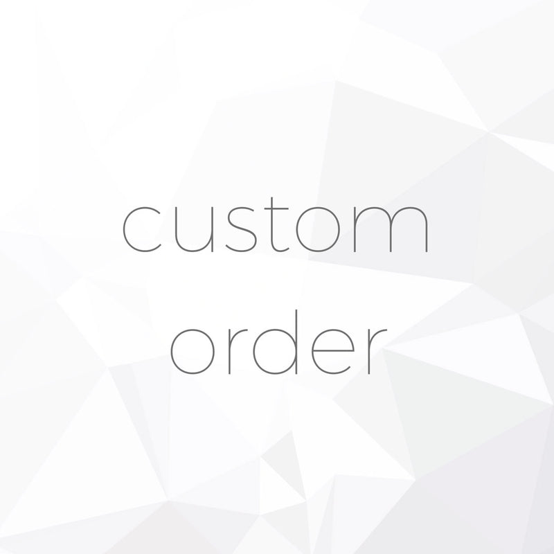 Custom Order 1/2-  Low Profile 6 prong setting only- Reserved for R.N