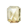 2.14CT EMERALD SHAPED ROSECUT DIAMOND, LIGHT COGNAC, SOME LIGHT VISIBLE INCLUSIONS, 8X6.5MM