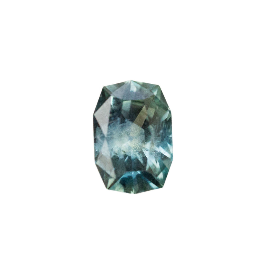 1.50CT FANCY LONG CUSHION MONTANA SAPPHIRE, MEDIUM DENIM BLUE, VISIBLE SILKY INCLUSIONS, HEATED, 7.5X5.5MM