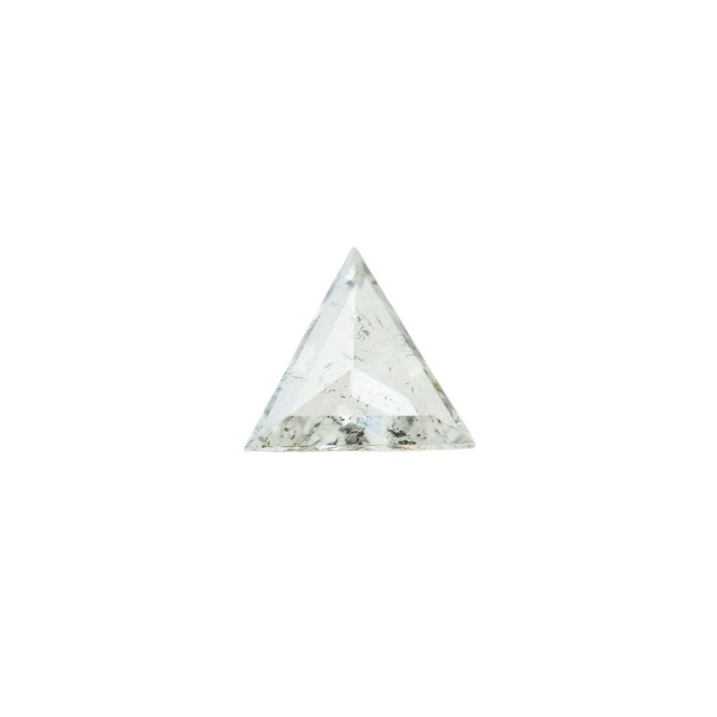 0.56CT TRIANGLE ROSECUT DIAMOND, LIGHT SALT AND PEPPER, 6.5-7.5MM