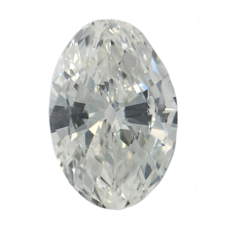 0.57CT MOVAL SHAPE DIAMOND, E COLOR, VS1 CLARITY, 7.06 X 4.78 X 2.48MM