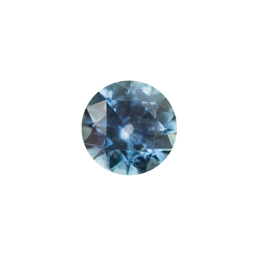 0.90CT ROUND MONTANA SAPPHIRE, OLD EUROPEAN CUT, ROYAL BLUE, SOME SILKY INCLUSIONS, HEATED, 5.91MM