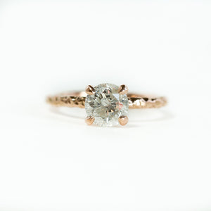 Custom Order-  1ct Round White Diamond Ring Set in 14k Yellow Gold Evergreen setting. Reserved for A.