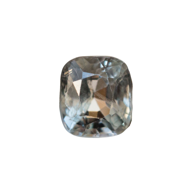 1.11CT CUSHION BLUE GREY SPINEL, UNTREATED, SOME LIGHT INCLUSIONS, 6.15X5.44MM