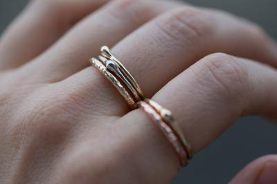 eed6cb8cc85 Straight Evergreen Band without diamonds- Wedding Band - Recycled Gold  stacking ring - Thin gold