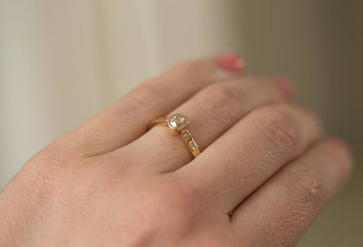Vintage Diamond Ring Old Cut Bezel Set - Antique Old Mine Cut Diamond in a Vintage Setting - Comes with Appraisal - Yellow Gold Engagement