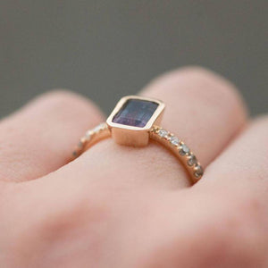 Low Profile Bezel with French Set Diamond Band- Setting