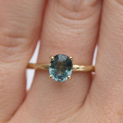 evergreen sapphire mermaid green blue sapphire solitaire gemstone engagement ring