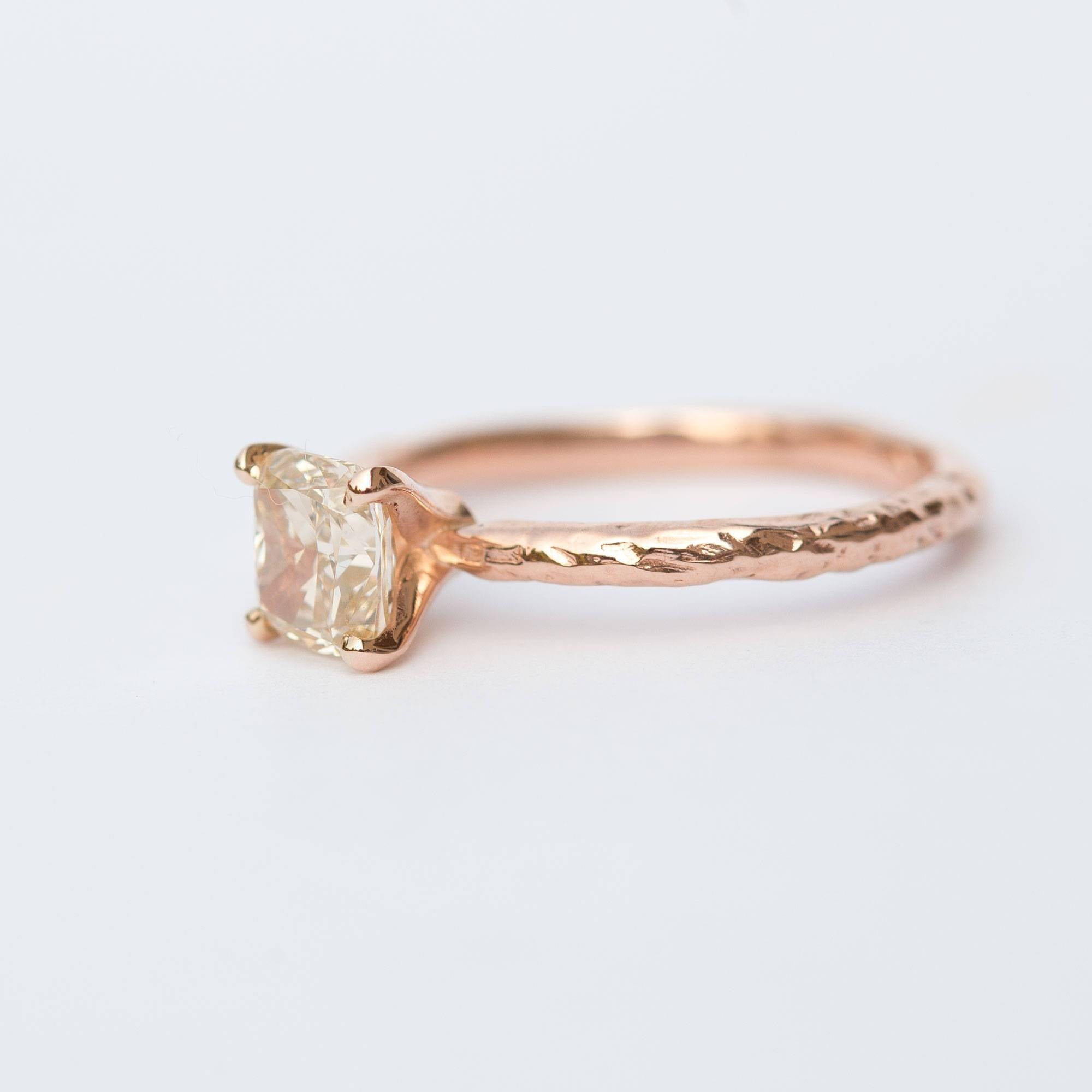 engagement rings gold diamond ring champagne rose rivoir