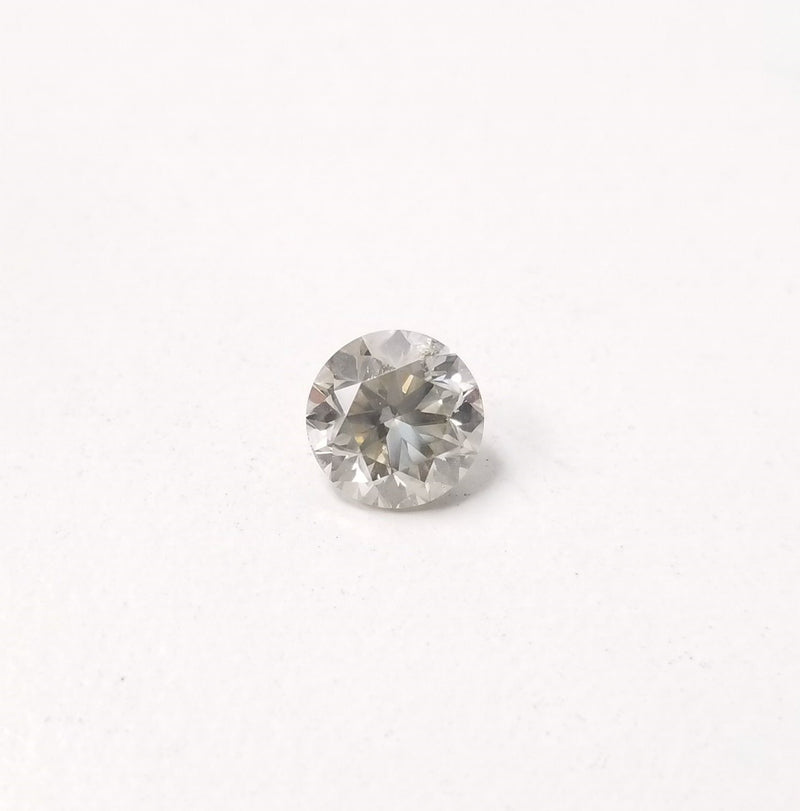 Custom Order- 1.23ct Round Grey Diamond for Custom Bezel Set Ring, reserved for F. Payment 1 of 2.