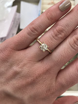 Custom Order-  Yellow Gold Grey Solitaire Diamond Engagement Ring