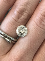Custom Order- 2ct white brilliant cut salt and pepper diamond custom cluster ring, reserved for J