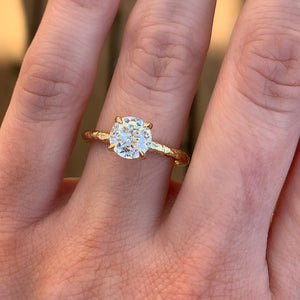 1.32ct GIA Crown Jubilee® Diamond Evergreen Solitiare in 18k Yellow Gold