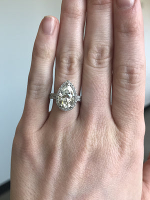 Custom Order-  Double Platinum Bands for Moissanite Engagement Ring