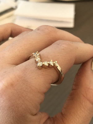 Custom Order- 0.22ctw Diamond Contour Band in 14k Yellow for Janelle