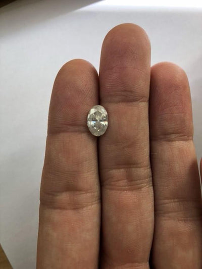 Custom Order- 1.75ct Oval Light Grey Diamond in Cathedral Style Solitaire Ring. Reserved for P and B