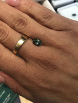 Custom Order-  14k Gold Custom Ring with 1.46ct Oval Montana Sapphire