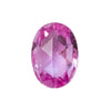 0.95CT TANZANIAN SAPPHIRE, OVAL ROSECUT, BRIGHT MEDIUM PINK, HEATED, 7.2 X 5.2MM