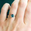 Custom Order- 2.19ct Round Montana Sapphire in Platinum Evergreen setting reserved for D.