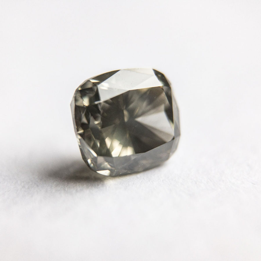 1.23ct 6.11x5.59x3.94mm Dark Grey Cushion Cut -   F-021 - Dream Diam Exclusive