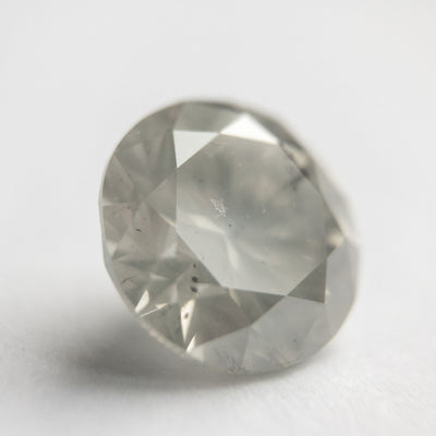 4.02ct 9.91x9.69x6.42mm Light Grey Round Brilliant - DDL4262- Dream Diam Exclusive
