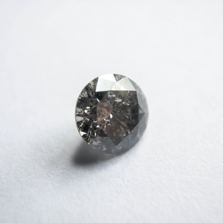 0.65CT ROUND BRILLIANT CUT SALT AND PEPPER DIAMOND, 5.50X5.49MM