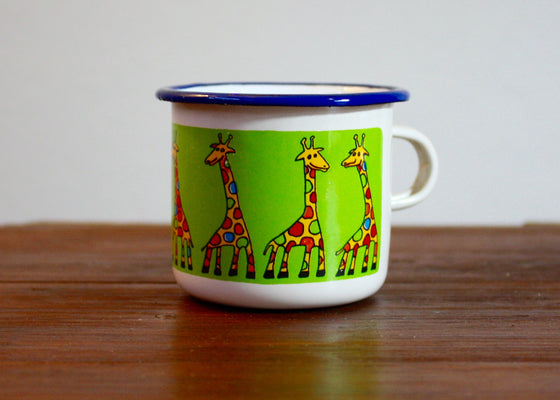 Enamel mug 110ml * giraffes - Rainbow Tongue