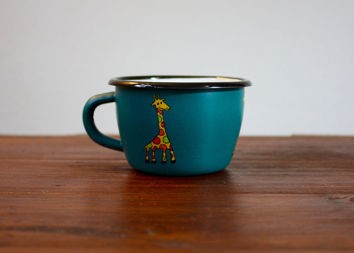 Enamel conical mug 200ml * giraffes - Rainbow Tongue