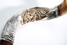 "925 Sterling Silver Plated Yemenite Kudu Shofar By ""Shofarot Israel"" + FREE SHIPPING + FREE BAG (18)"