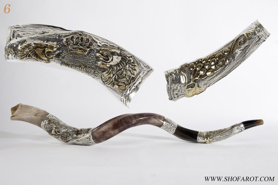 Copy of 925 Sterling Silver Plated Yemenite Kudu Shofar By