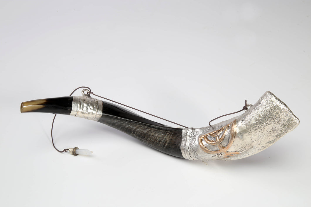 Silver Plated Anointing Oil Yemenite Shofar by