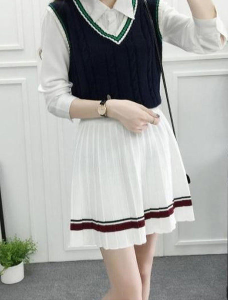 Pretty Knit Pleat Skirt