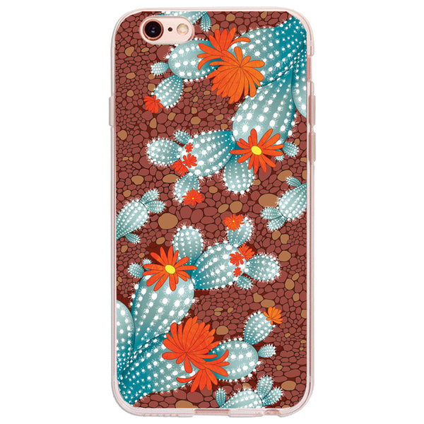 Cactus Landscape - iPhone Clear TPU Case - December12.shop